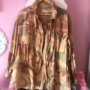 Free people camp jacket size small